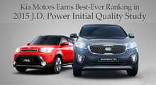 Kia Motors Earns Best Ever Ranking in 2015 JD Power Initial Quality Study